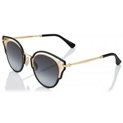Óculos Jimmy Choo Dhelia Preto Dourado Original Comprar