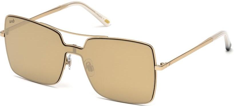Óculos quadrado máscara Web Eyewear dourado espelhado Óculos quadrado  máscara Web Eyewear dourado espelhado 11a5471ba4