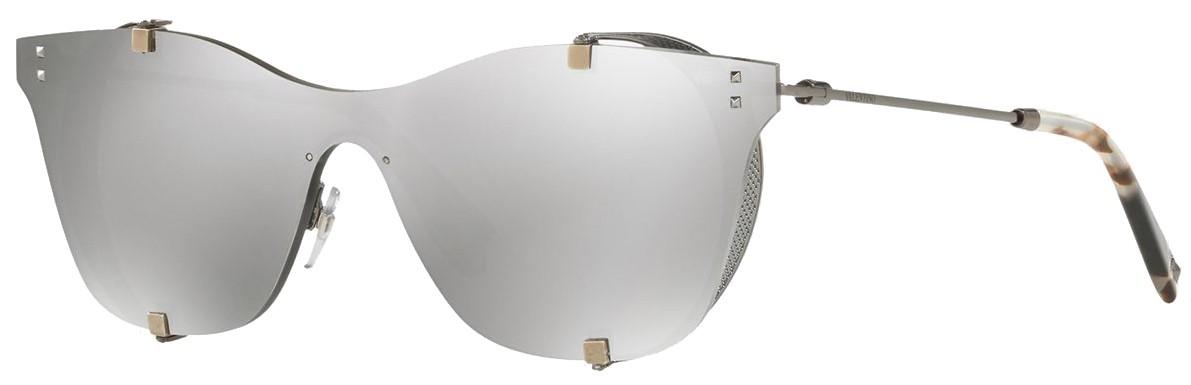 oculos de sol valentino 2016 mascara prata