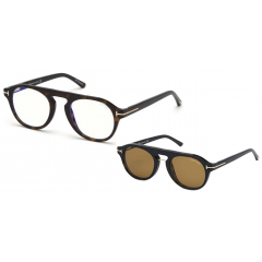 Tom Ford 5533B 52E Blue Look - Óculos e Clip On