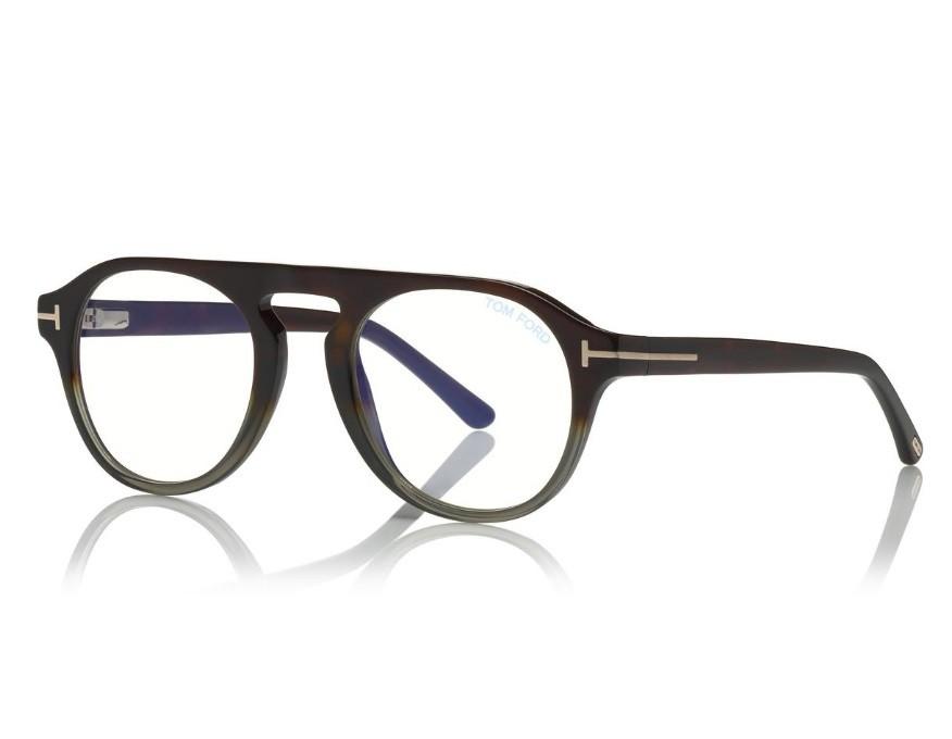 bdbc065454f4a Tom Ford 5533B 55A Blue Look - Óculos e Clip On