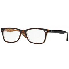 Óculos de grau Retangular Ray-Ban Tartaruga Bege Estampado
