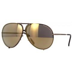 Oculos Porsche Aviador Troca Lente Preto Dourado Espelhado