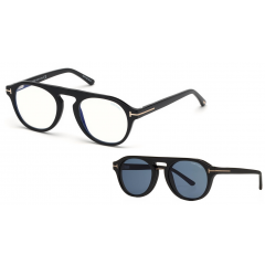 Tom Ford 5533B 01V Blue Look - Óculos e Clip On