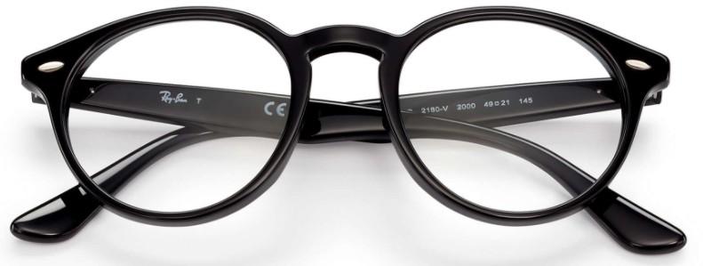 fc50216662b71 ... Óculos de grau Ray Ban Round 2180 Preto - Comprar Online ...