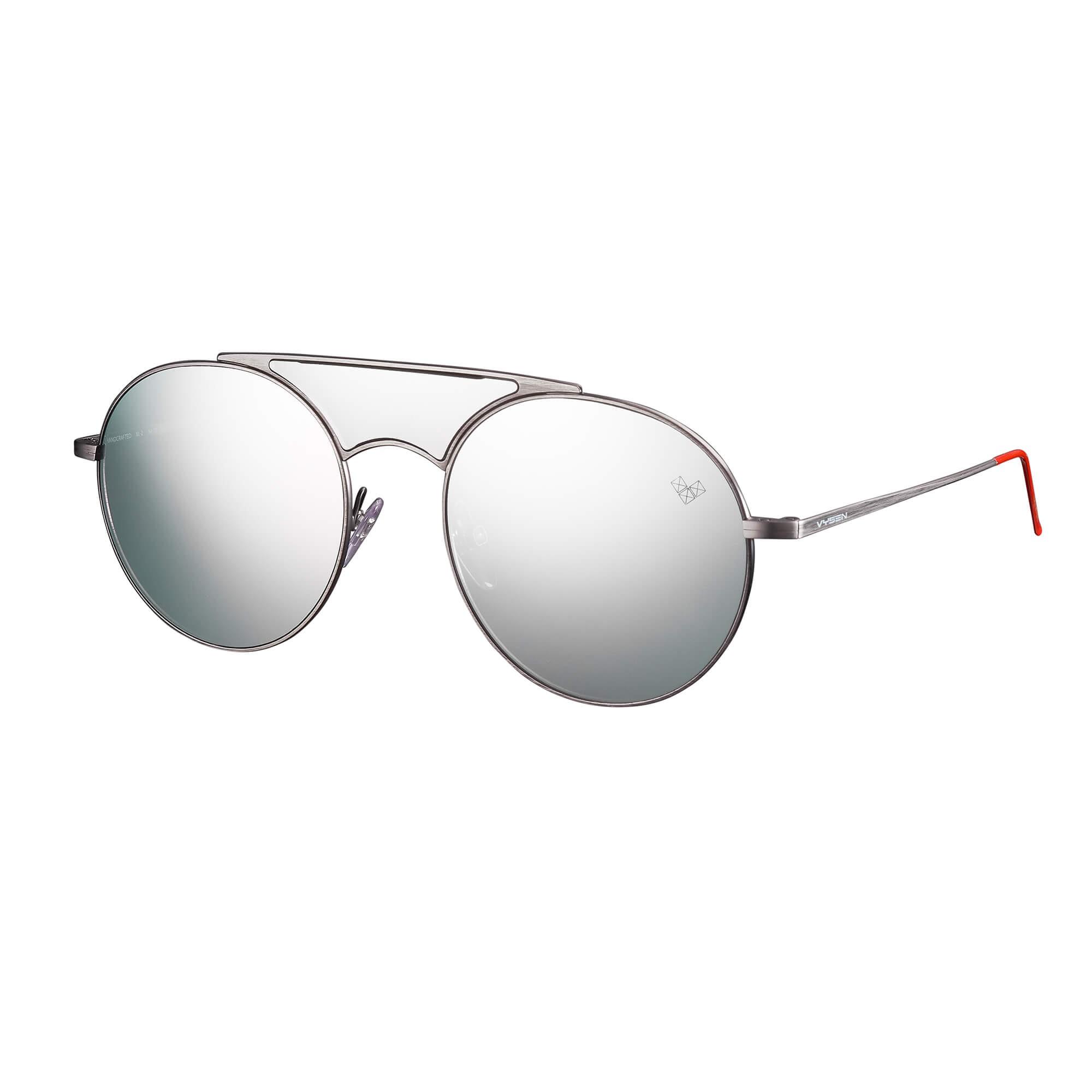 5e2df4736 Vysen Kalai 02 Ariadna Gutierrez Lentes espelhada Prata - Oculos de Sol