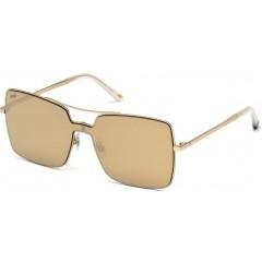 Óculos quadrado máscara Web Eyewear dourado espelhado