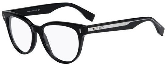 Óculos de grau Preto Gatinho Fendi Original