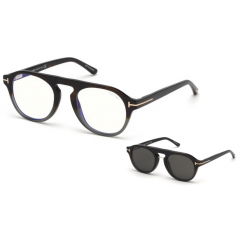 Tom Ford 5533B 55A Blue Look - Óculos e Clip On