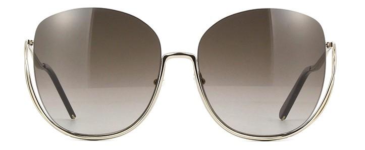 oculos de sol chloe milla marrom degrade