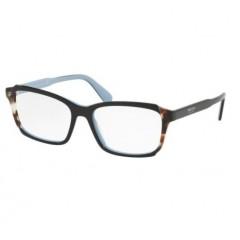 Prada Etiquette 01VV preto azul - Oculos de Grau
