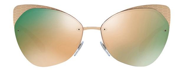 Óculos Bulgari Espelhado Dourado Rose Comprar Original