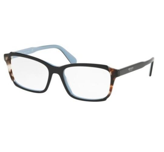 d227bd6f9 ... Prada Etiquette 01VV preto azul - Oculos de Grau