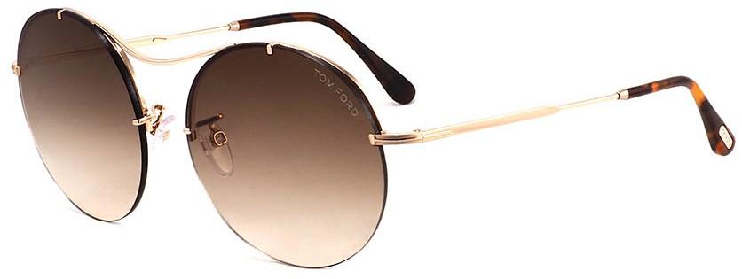 óculos tom ford redondo lente marrom óculos tom ford redondo lente marrom  ... 62138bfccf