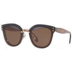oculos de sol miu miu reveal glitter marrom