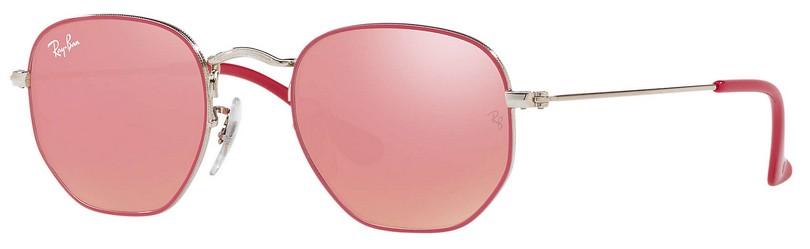 oculos infantil ray ban hexagonal vermelho rosa