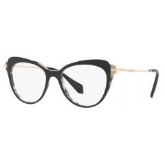 Óculos de grau gatinho Miu Miu Preto Havana Areia