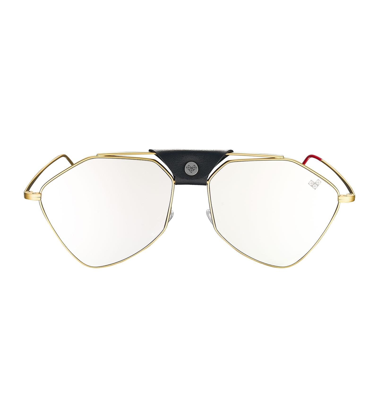 Vysen Letec 7S Dourado Lentes Espelhadas Prata - Oculos de Sol